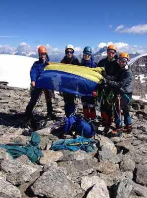 Киевские альпинисты провели учебно-тренировочные восхождения в Альпах