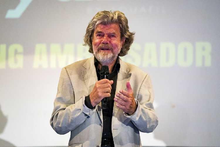 Райнхольд Месснер (Reinhold Messner) на церемонии Arco Rock Legends 2018. Фото rockmasterfestival