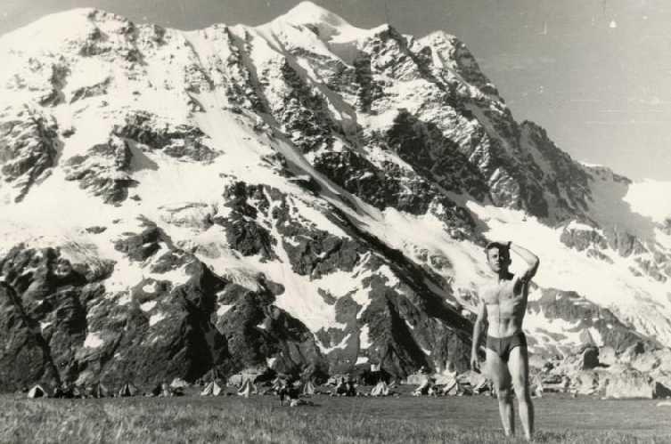 Дигория, лагерь на поляне Нахашбита, вершина Лабода. 1966 год.Фото из архива Вадима Бялого
