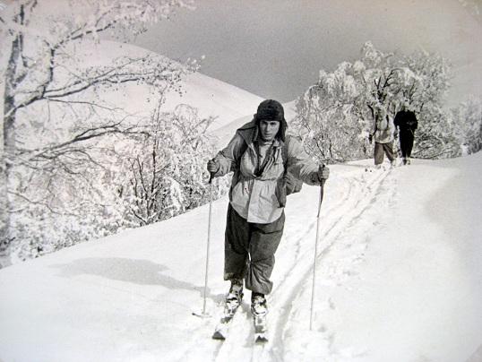 На лыжах к Говерле. Январь 1961г. Фото из архива Вадима Бялого