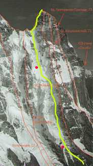 Денис Урубко открывает новый маршрут на вершину горы Ушба