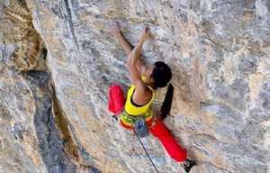 Кэтрин Чоонг проходит свою первую скальную сложность 9а