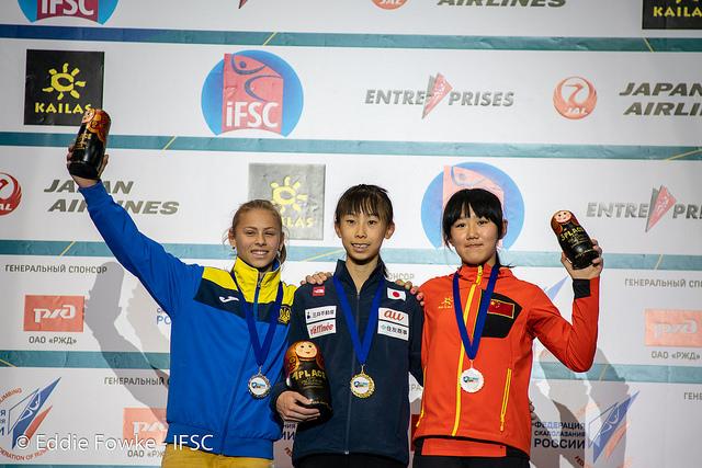 Ника Потапова - серебряная призерка юношеского Чемпионата Мира по скалолазанию 2018