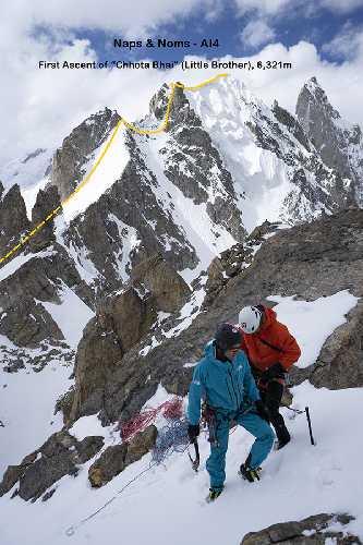 """маршрут """"Naps & Noms"""" на Чхота Бхай (Chhota Bhai, 6321 м)"""
