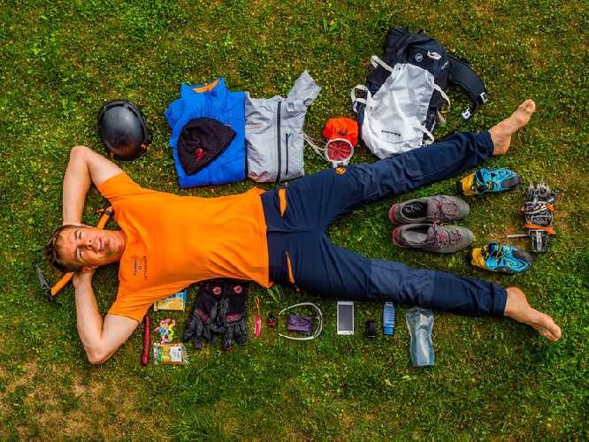 Дани Арнольд (Dani Arnold) и снаряжение для скоростного восхождения на Гранд Жорасс