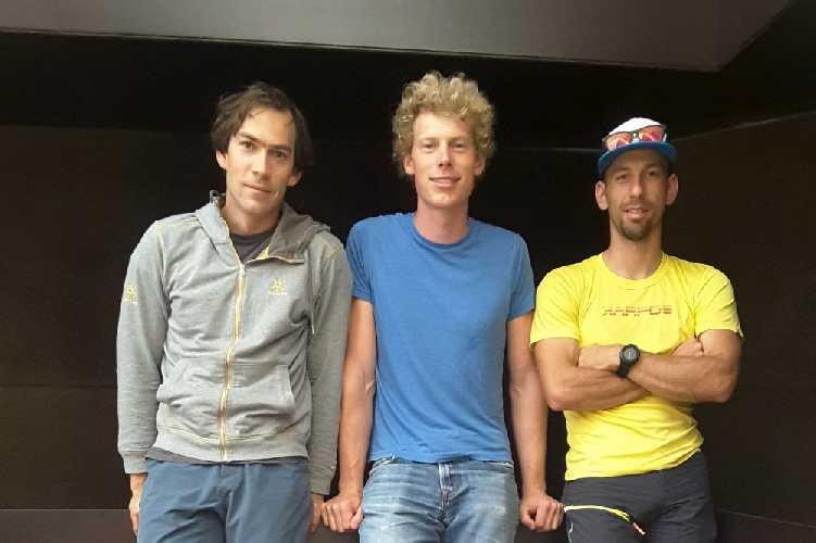 Алес Чезен (Ales Cesen, Словения), Том Ливингстон (Tom Livingstone, Великобритания) и Лука Стражар (Luka Stražar, Словения)