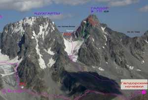 При проведении работ по эвакуации тел троих погибших альпинистов на горе Галдор погиб один из спасателей