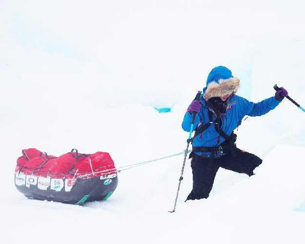 Марин Минамия (Marin Minamiya) на полюсе. Фото Marin Minamiya