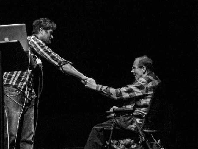 Brandon Pullan и Джефф Лоу (Jeff Lowe) на фестивале горных фильмов в Ванкувере. Фото Gaby James