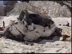 Крушение вертолёта с альпинистами в Таджикистане: съёмка момента падения