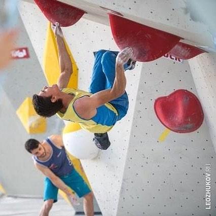 Сергей Топишко в квалификации Чемпионата Мира по скалолазанию 2018