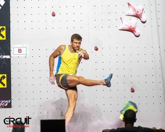 Даниил Болдырев после фальстарта на Чемпионате Мира 2018 года в Инсбруке
