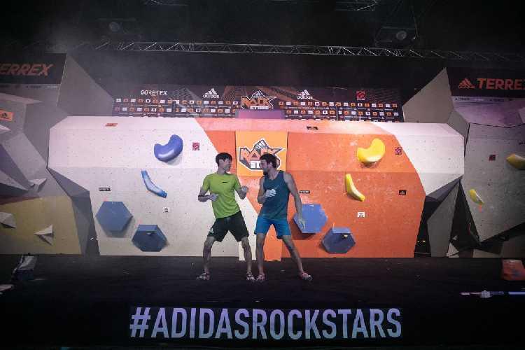 """Джернеей Крудер (Jernej Kruder) и Джангвон Чон (Jongwon Chon) в суперфинале """"Adidas Rockstars 2018"""". Фото Vladek Zumr"""