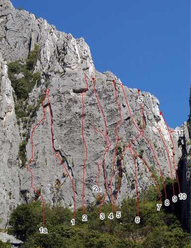 Фото маршрутов для  Чемпионата Украины по альпинизму 2018 года в скальном классе в Враца, Болгария
