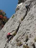 Чемпионат Украины по альпинизму 2018 года в скальном классе. Болгария, город Враца. Фото Геннадий Копейка
