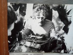 "Дискотека на скалах Довбуша. ""Шарик"" крутит музон. Фото extrem . lviv . ua"