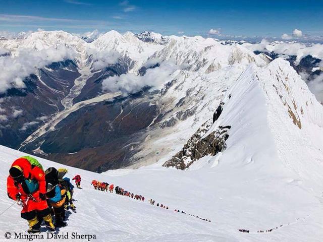 Манаслу.  сентябрь 2018. Фото Mingma David Sherpa