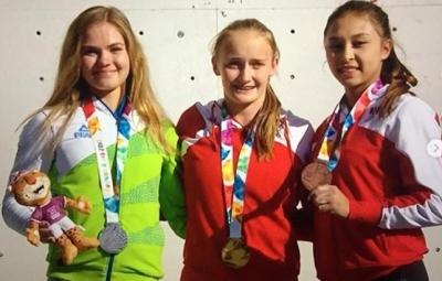 Австрийка Сандра Леттнер стала первой в истории юношеских Олимпийских Игр победительницей в скалолазании