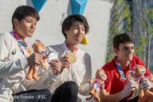 Японец Кейта Дохи стал первым в истории юношеских Олимпийских Игр победителем в скалолазании