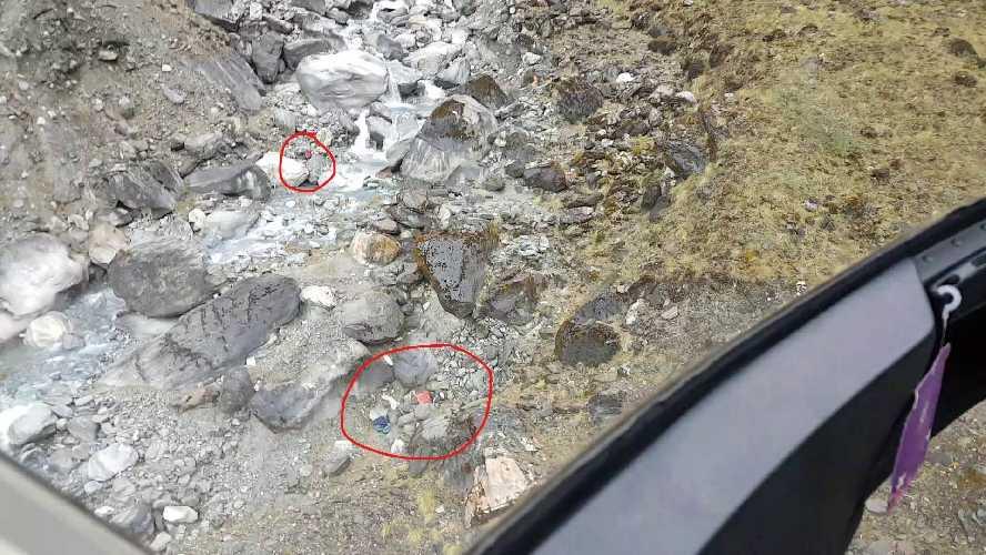 Разбитый базовый лагерь и тела погибших у горы Гурджа (Gurja, 7193 метров). Фото Simrik Air