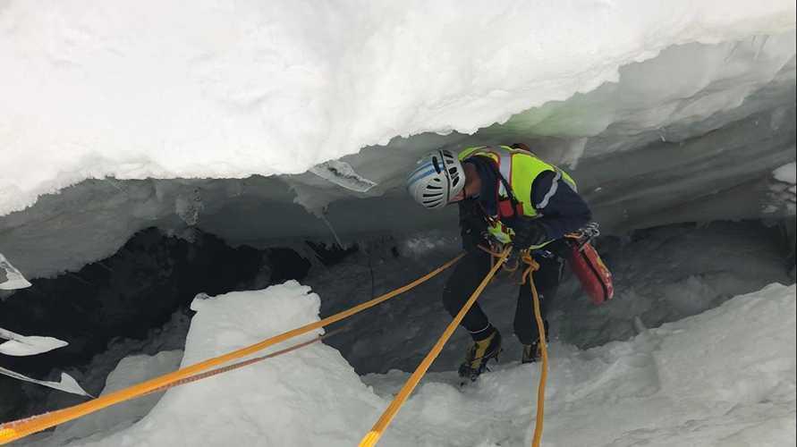 Авария на леднике Тула (Toula Glacier). Фото Ezio Marlier
