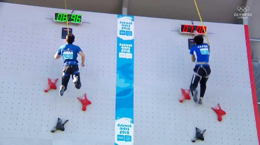 Кейта Дохи и Сем Авезу на финальной трассе в дисциплине скорость