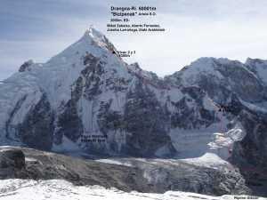 Испанская команда открывает новый маршрут на непальскую вершину Дрангнаг-Ри (Drangnag Ri, 6801м)