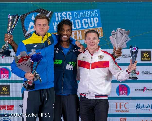 Победители Кубка Мира 2018 (скорость, мужчины): <br><br>1 место: Басса Мавем (Bassa Mawem, Франция)<br>2 место: Даниил Болдырев (Украина)<br>3 место: Станислав Кокорин (Россия)