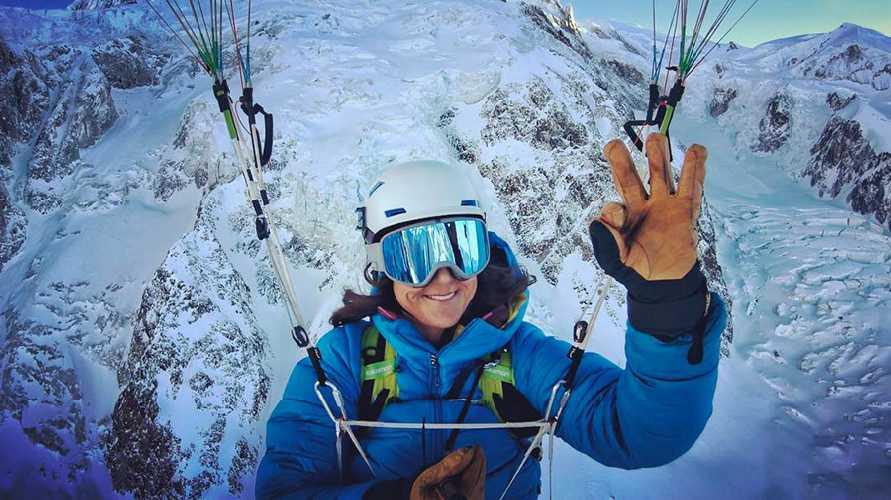 Лив Сансоз (Liv Sansoz): спуск с вершины Монблана. Фото Liv Sansoz