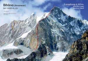 Испанские альпинисты открыли новый маршрут на непальскую вершину Лангдунг (6358 м)