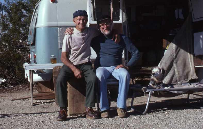 Джон Салате (John Salathé) слева и  Аллен Штек ( Allen Steck) справа