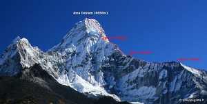 Американский альпинист погиб при восхождении на непальскую вершину Ама-Даблам