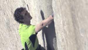 Момент срыва Адама Ондры во время попытки онсайта маршрута