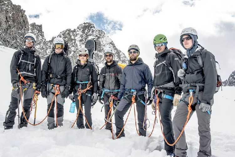 Ману Делаго (Manu Delago) с музыкантами - альпинистами в австрийском Тироеле. Фото Manu Delago