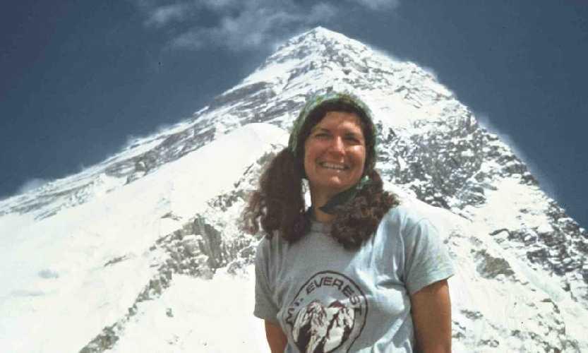 Арлин Блюм (Arlene Blum) во время эверестовской экспедиции 1976 года, посвященной 200-летию независимости США