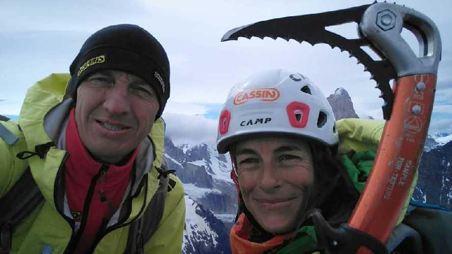 Денис Урубко и Мария Карделл (Maria Cardell) на вершине Серро-Соло (Cerro Solo). Фото Maria Cardell