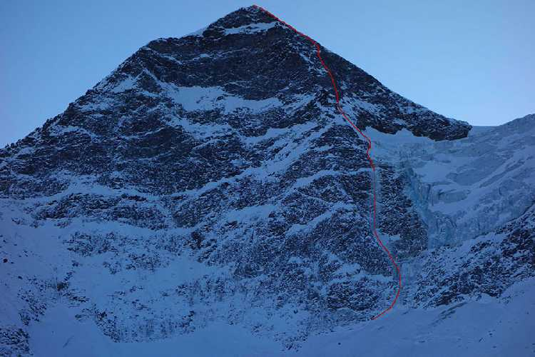 маршрут Russisches Roulette по северной стене австрийской горы Кристалванд (Kristallwand) высотой 3310 метров