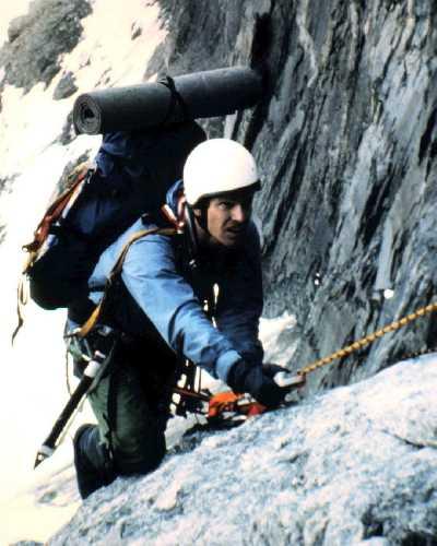 Крис Джонс (Chris Jones ) и Джордж Лоу (George Lowe) в первом восхождении на северную стену горы Норт Твин (North Twin). Фото George Lowe