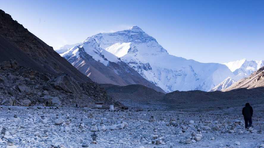 Вид на Эверест со стороны монастыря Ронгбук