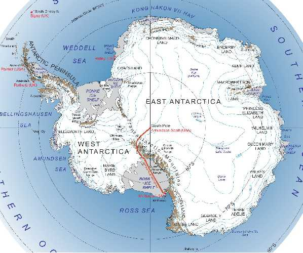 Шоссе Мак-Мердо — Южный полюс (McMurdo-South Pole Highway) или траверс Южного Полюса (South Pole Traverse).