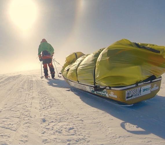 пересечение Южного Полюса. Фото Colin O