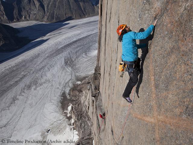 Александр Хубер (Alex Huber) в восхождении на горе Асгард, Баффинова земля. Фото Alex Huber