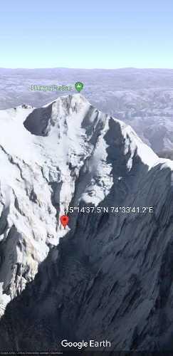 Отметка третьего высотного лагеря по маршруту Даниэля Нарди. 10 января 2018 года.