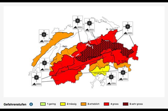 Национальный лавинный бюллетень от 14 января 2019 года. Фото WSL