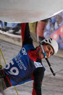 В Швейцарском Зас-Фе состоялся юбилейный этап Кубка Мира по ледолазанию