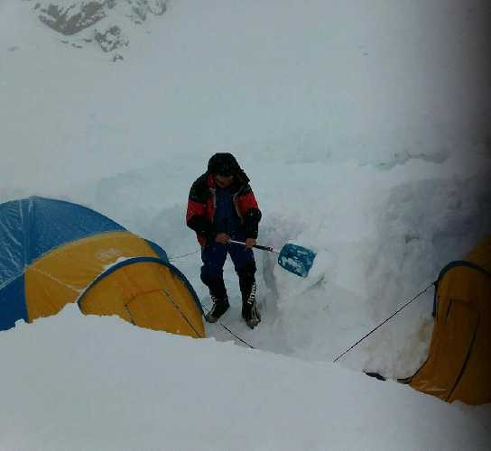 В базовом лагере Нангапарбат. Фото Daniele Nardi