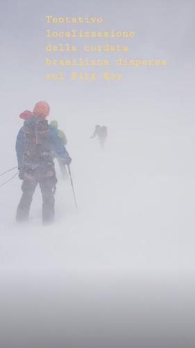В поисках двух бразильских альпинистов на Фицрое. Фото Edardo Albirighi