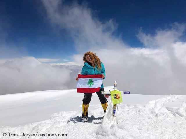 Тима Дерьян (Tima Deryan) на вершине Аконкагуа. Фото Tima Deryan