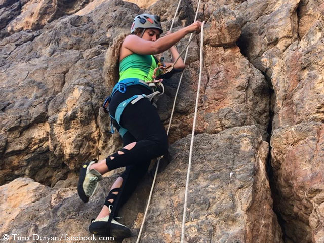 Тима Дерьян (Tima Deryan) на скалах. Фото Tima Deryan