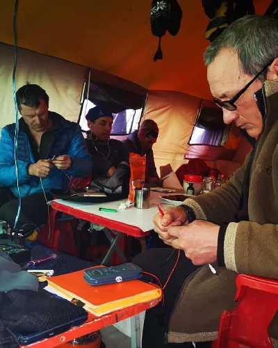 Казахстанско-российско-кыргызская экспедиция в базовом лагере К2, 31 января 2019 года. Фото  K2 winter climb